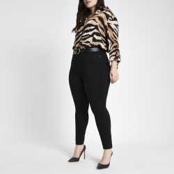 Womens Plus Black Harper high waisted jeans found on MODAPINS from River Island - UK for USD $44.07