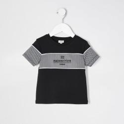 River Island Mini boys Black Maison Riviera t-shirt found on Bargain Bro UK from River Island - UK