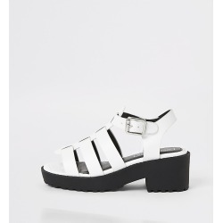 River Island Girls white chunky gladiator sandals