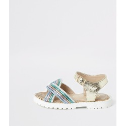 River Island Girls gold metallic sandals
