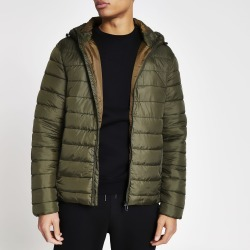 Mens River Island Only and Sons Khaki padded jacket