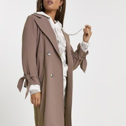 River Island Womens Brown drawcord waist duster coat found on MODAPINS from RIver Island US for USD $130.00