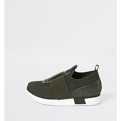 River Island Mini boys khaki knit runner trainers found on Bargain Bro India from RIver Island US for $40.00
