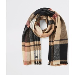 River Island Womens Beige check scarf found on MODAPINS from River Island - UK for USD $23.28