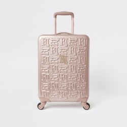 River Island Womens Rose Gold RI monogram suitcase found on Bargain Bro UK from River Island - UK