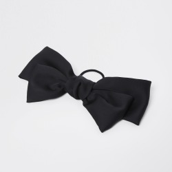 River Island Womens Black satin bow hair clip found on MODAPINS from River Island - UK for USD $14.11