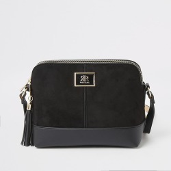River Island Womens Black suedette cross body bag