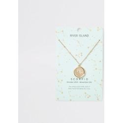 River Island Womens Scorpio zodiac sign Gold colour necklace