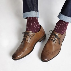 Mens River Island Tan leather lace-up brogues found on Bargain Bro UK from River Island - UK
