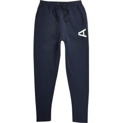 Mens River Island Arcminute Navy sim fit joggers