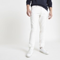 Mens Pepe Jeans ecru Stanley tapered jeans found on MODAPINS from River Island - UK for USD $107.64