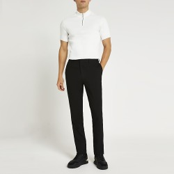 River Island Mens Black slim fit smart trousers