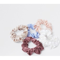 River Island Womens Pink mixed satin scrunchies 5 pack found on Bargain Bro UK from River Island - UK