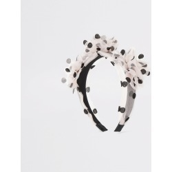 River Island Womens Pink polka dot organza flower headband found on Bargain Bro UK from River Island - UK