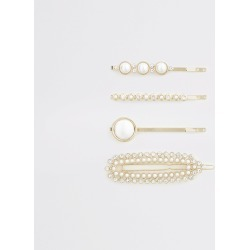 River Island Womens Gold colour pearl hair clip multipack found on Bargain Bro UK from River Island - UK