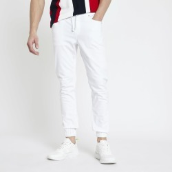 Mens River Island White skinny fit joggers