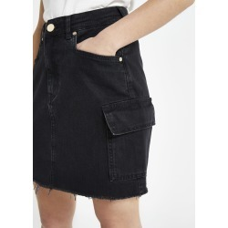 Womens Petite Black utility denim skirt found on MODAPINS from River Island - UK for USD $40.66