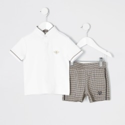 River Island Mini boys White polo and shorts outfit found on Bargain Bro UK from River Island - UK
