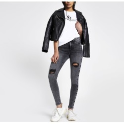 Womens Black Molly ripped jeggings found on MODAPINS from River Island - UK for USD $52.38