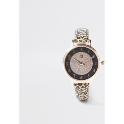 River Island Girls brown leopard print watch