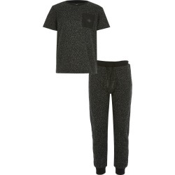 River Island Boys Black textured T-shirt outfit found on Bargain Bro UK from River Island - UK