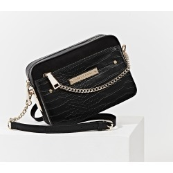 River Island Womens Black side chain boxy crossbody bag found on Bargain Bro Philippines from RIver Island US for $60.00