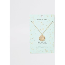 River Island Womens Cancer zodiac sign Gold colour necklace