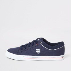 Mens River Island K-Swiss Navy canvas lace-up trainers
