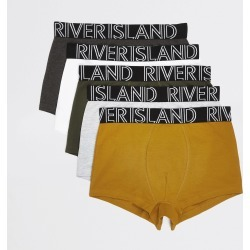 Mens River Island Multicoloured RI hipsters 5 pack found on Bargain Bro UK from River Island - UK