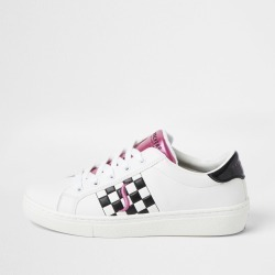 River Island Womens Skechers White check print lace up trainers found on MODAPINS from River Island - UK for USD $91.66
