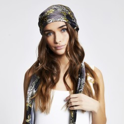 River Island Womens Black chain print headscarf found on Bargain Bro from River Island - UK for £14