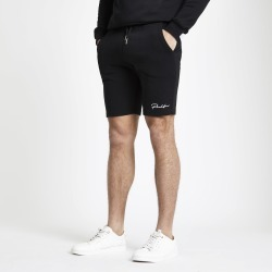 Mens River Island Prolific Black muscle fit jersey shorts
