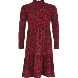 River Island Girls red floral long sleeve smock dress