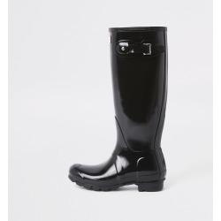 River Island Womens Hunter Black tall gloss wellington boots found on Bargain Bro UK from River Island - UK