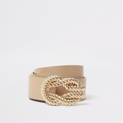 River Island Womens Light Brown rope buckle belt found on Bargain Bro from River Island - UK for £16