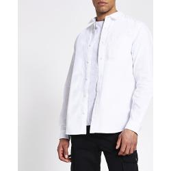 River Island Mens White regular fit utility overshirt