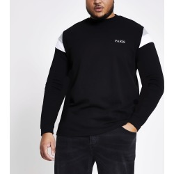 Mens River Island Big and Tall Black block sweatshirt found on MODAPINS from River Island - UK for USD $27.55