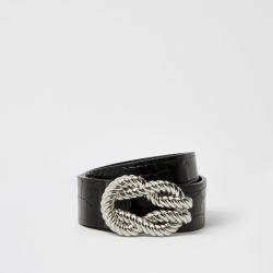 River Island Womens Black rope twisted buckle belt found on Bargain Bro UK from River Island - UK