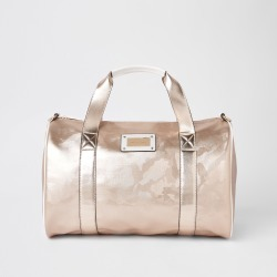Womens Rose Gold camo large duffle weekend bag found on MODAPINS from River Island - UK for USD $48.29