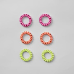 Womens Neon spiral hair tie multipack found on MODAPINS from River Island - UK for USD $7.62