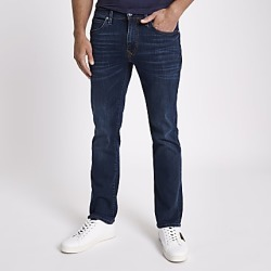 River Island Mens Dark blue bootcut jeans found on MODAPINS from RIver Island US for USD $80.00