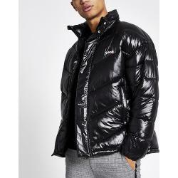 Mens Schott black nylon padded jacket