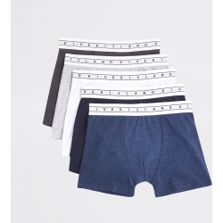 River Island Boys Navy RI boxers 5 pack found on Bargain Bro UK from River Island - UK
