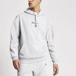 River Island Mens Prolific grey regular fit hoodie