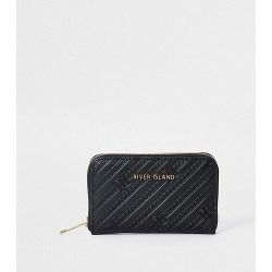 River Island Womens Black RI embossed ziparound purse found on Bargain Bro Philippines from RIver Island US for $26.00