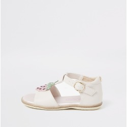 River Island Mini girls pink strawberry sandals