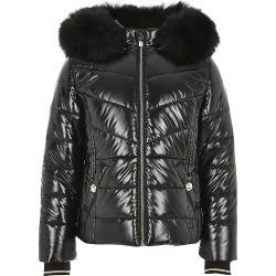 River Island Girls black high shine padded coat