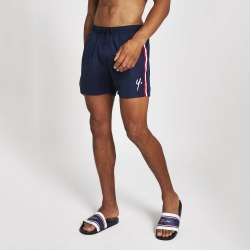 Mens River Island Year Dot Navy swim shorts