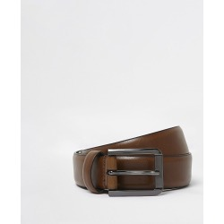 River Island Mens Tan brown smart belt