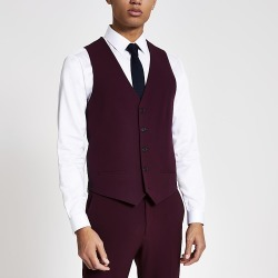 River Island Mens Dark red slim fit suit waistcoat found on MODAPINS from RIver Island US for USD $70.00